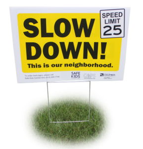 Screen Printing Slow Down Sign